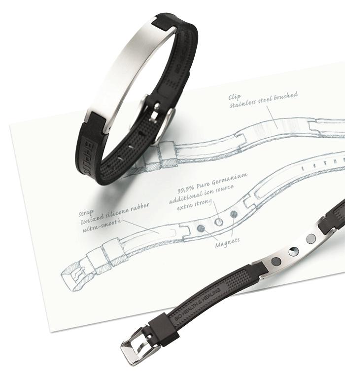 neue Armbandserie Lunavit kombiniert erstmals Germanium, Minus Ionen, Ferninfrarot und Magnete.